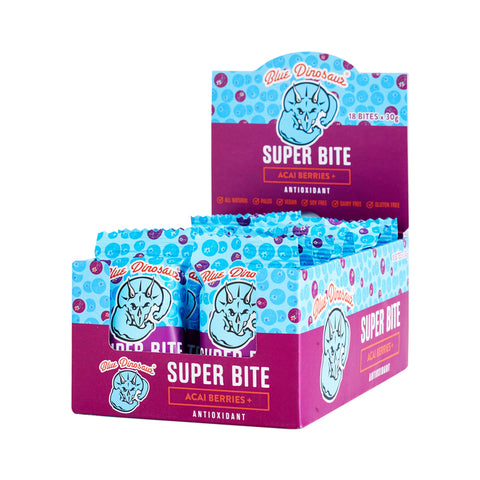Blue Dinosaur Super Bite Bar Acai Berries (30g x 18 Bars) - Organic Pavilion