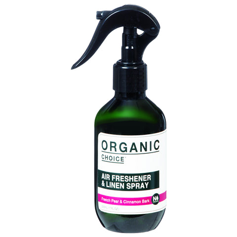 Organic Choice Air Freshener & Linen Spray - French Pear & Cinnamon Bark (200ml)