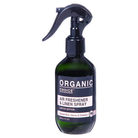 Organic Choice Air Freshener & Linen Spray Limited Edition - Spiced Rum, Honey & Coconut (200ml)