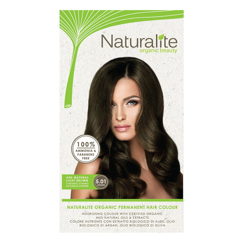 Naturalite Organic Permanent 5.01 Ash-Natural Light Brown Hair Colour (110ml) - Organic Pavilion