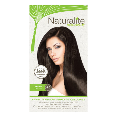 Naturalite Organic Permanent 4.0 Brown Hair Colour (110ml)