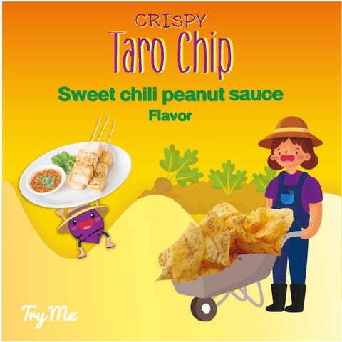 Try Me Sweet Chili Peanut Sauce Flavor Taro Chips (50g) - Organic Pavilion