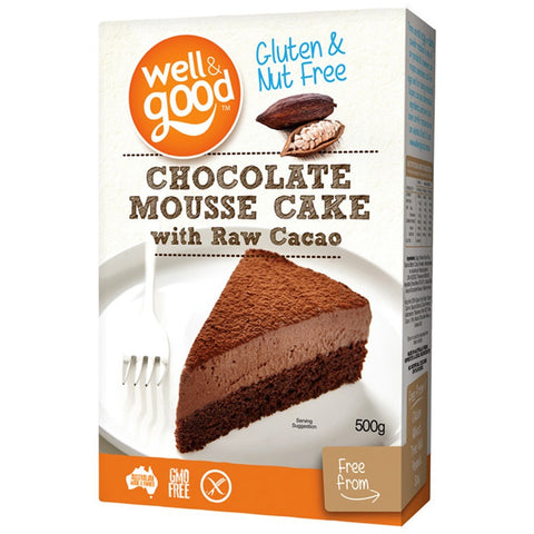 Well & Good Gluten Free Chocolate Mousse Cake with Raw Cacao (500gm)