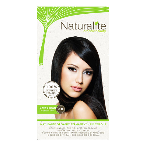 Naturalite Organic Permanent 3.0 Dark Brown Hair Colour (110ml)