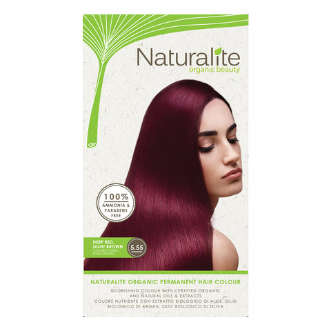 Naturalite Organic Permanent 5 55 Deep Red Light Brown Hair Colour