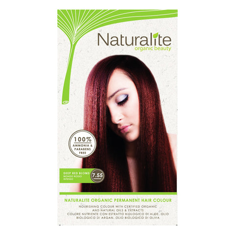 Naturalite Organic Permanent 7.55 Deep Red Blond Hair Colour (110ml)