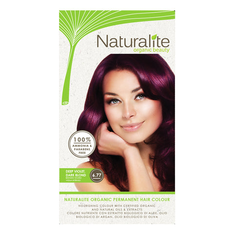 Naturalite Organic Permanent 6.77 Deep Violet, Dark Blond Hair Colour (110ml)
