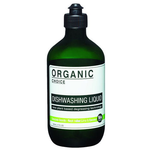 Organic Choice Seasonal Scents Dishwashing Liquid - West Indian Lime & Coconut (500ml)