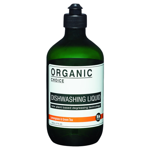 Organic Choice Lemongrass & Green Tea Dishwashing Liquid (500ml)