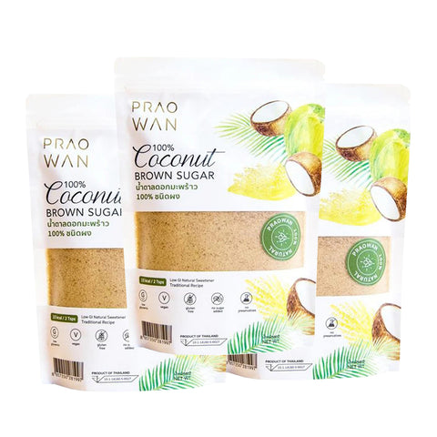 Praowan Coconut Brown Sugar (3 x 250g)