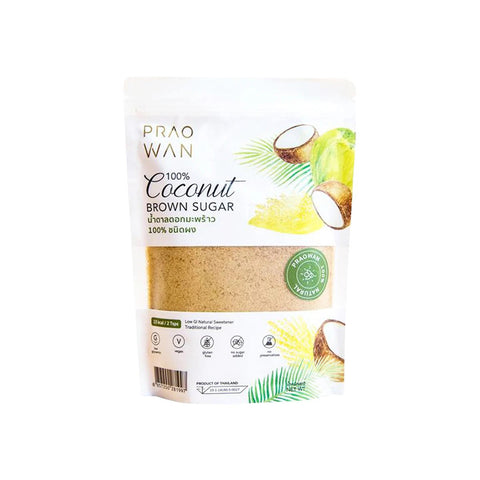 Praowan Coconut Brown Sugar (250g) - Organic Pavilion