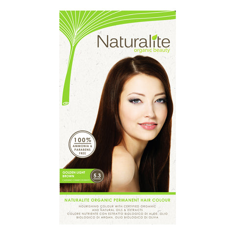 Naturalite Organic Permanent 5.3 Golden Light Brown Hair Colour (110ml)