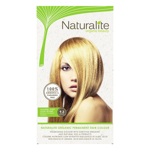 Naturalite Organic Permanent 9.3 Golden, Very Light Blond Hair Colour (110ml)