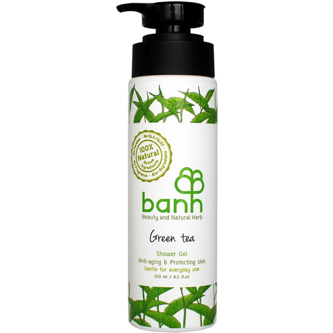 Banh  Green Tea Shower Gel - Anti-aging & Protecting skin (250ml)