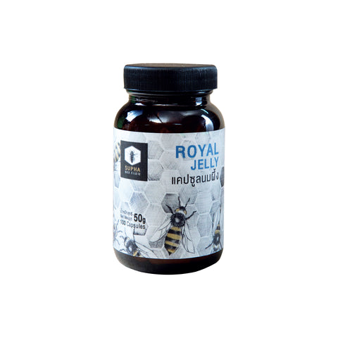 Supha Bee Farm Royal Jelly Capsule (50g/100 capsules) - Organic Pavilion