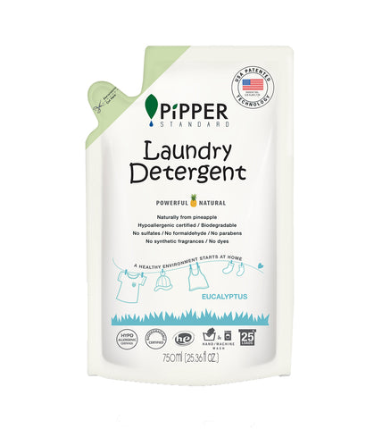 Pipper Standard Refill Laundry Detergent Eucalyptus Scent (750ml) - Organic Pavilion