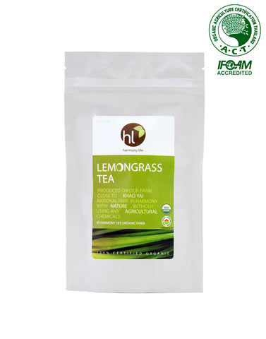 Harmony Life Organic Lemongrass Herbal Tea 12 Teabags (32gm) - Organic Pavilion