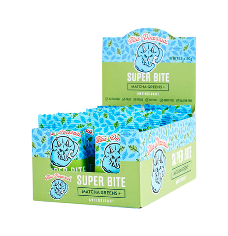 Blue Dinosaur Super Bite Bar Matcha Greens (30g x 18 Bars) - Organic Pavilion