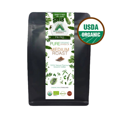 Mon Doi Luang Prime Ground Coffee: Medium Roast (200g)