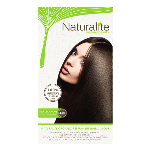 Naturalite Organic Permanent 4.07 Milk Chocolate Hair Colour (110ml)