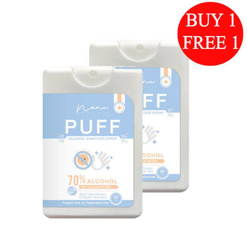 Nanu Puff Alcohol Sanitizer Spray (20ml) - Organic Pavilion