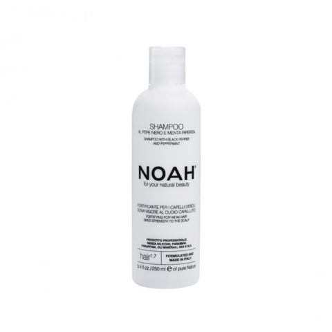 NOAH Shampoo with black pepper and peppermint (250ml) - Organic Pavilion
