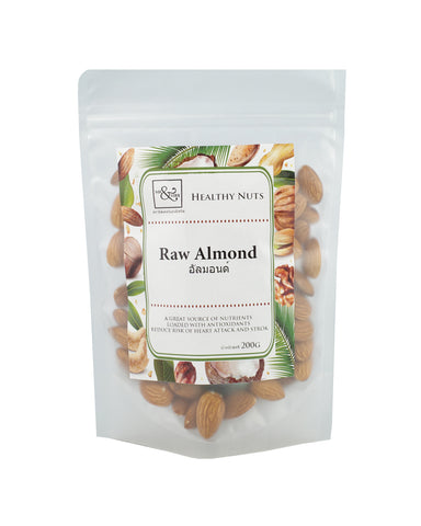 Mr. & Mrs. Raw Almond (200 gm) - Organic Pavilion