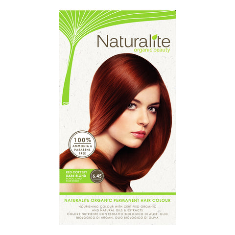 Naturalite Organic Permanent 6.45 Red Coppery, Dark Blond Hair Colour (110ml)