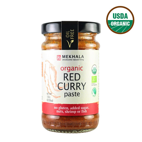 Mekhala Organic Red Curry Paste (100gm) - Organic Pavilion