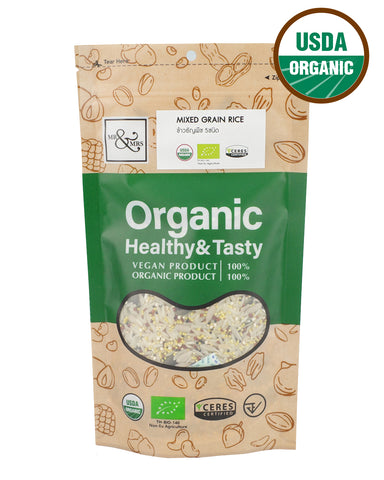 Mr. & Mrs. Jasmine Rice mixed with Organic Mixed Quinoa,Organic Millet, Sunflower Seeds and Pumpkin Seeds (500g) - Organic Pavilion