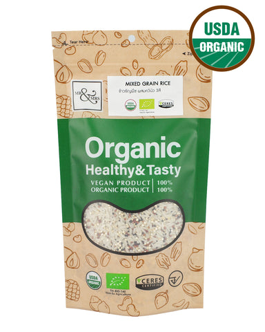 Mr. & Mrs. Jasmine Rice mixed with Organic Mixed Quinoa (500g) - Organic Pavilion