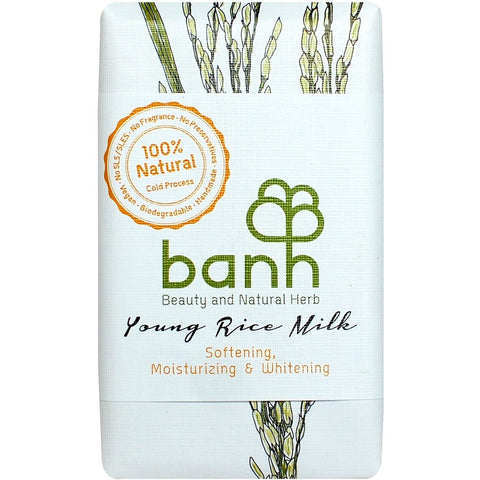 Banh Young Rice Milk Soap (230gm) - Organic Pavilion