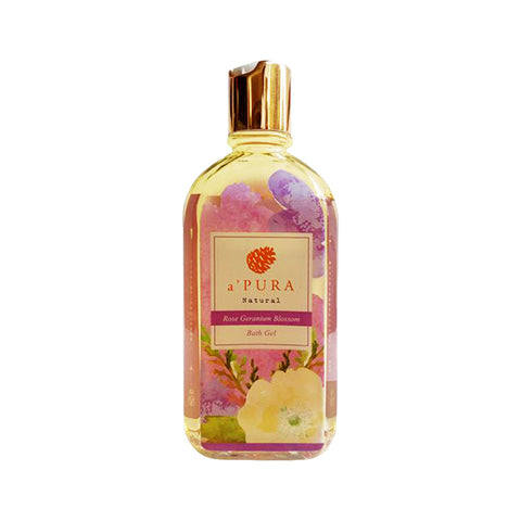 a'PURA Rose Geranium Blossom Bath Gel (250ml)