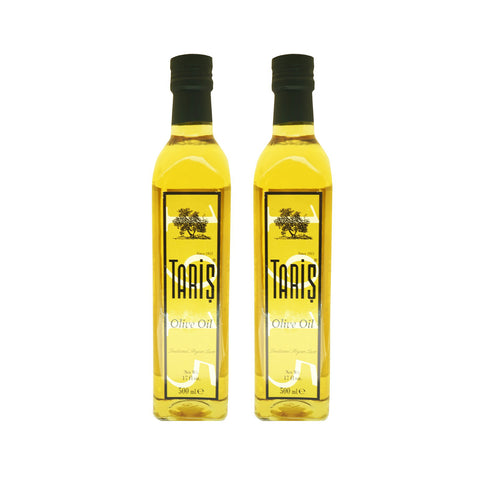 Taris Olive Oil Mascasca Glass Bottle Max Acidity 1% (2x500ml)