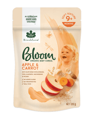 Brookfarm Bloom Organic Baby Cereal Apple & Carrot (120g)