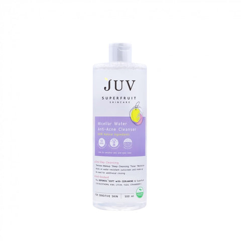 JUV Micellar Water Anti- Acne Cleanser (500 ml) - Organic Pavilion