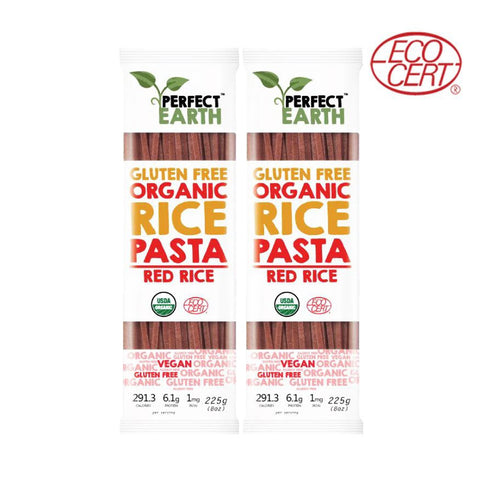 Perfect Earth Gluten Free Organic Pasta Red Rice (2x225gm) - Organic Pavilion