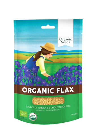 Organic Seeds Organic Ground Flax (200gm) - Organic Pavilion