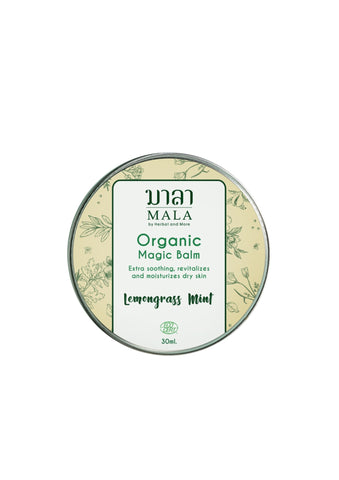 Mala Magic Balm Lemongrass and Pepper Mint (30ml) - Organic Pavilion