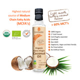 Rawganiq Organic Extra Virgin Coconut Oil, Cold Pressed, Unrefined  (275ml) - Organic Pavilion