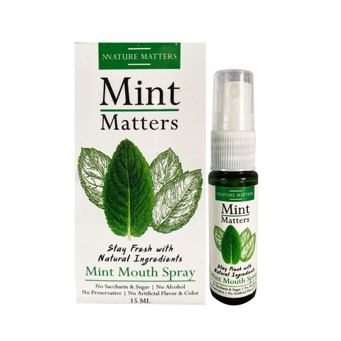 Mint Matters Mint Mouth Spray (15ml) - Organic Pavilion