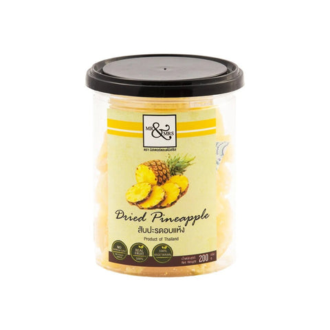 Mr. & Mrs. Dried Pineapple (200 gm) - Organic Pavilion