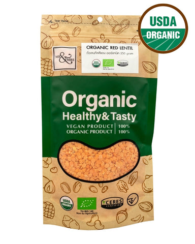 Mr. & Mrs. Red Lentil (250 gm) - Organic Pavilion