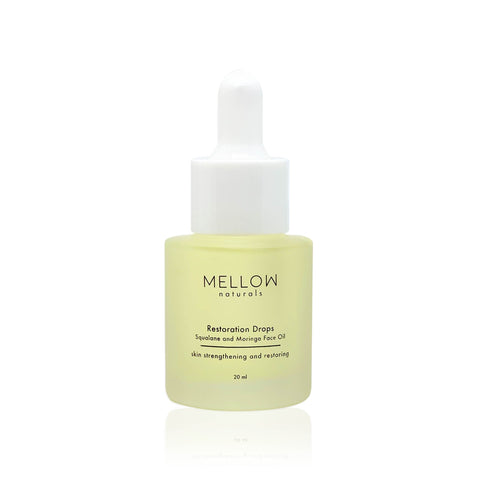 Mellow Naturals Restoration Drops Squalane with Moringa Oil (20ml)