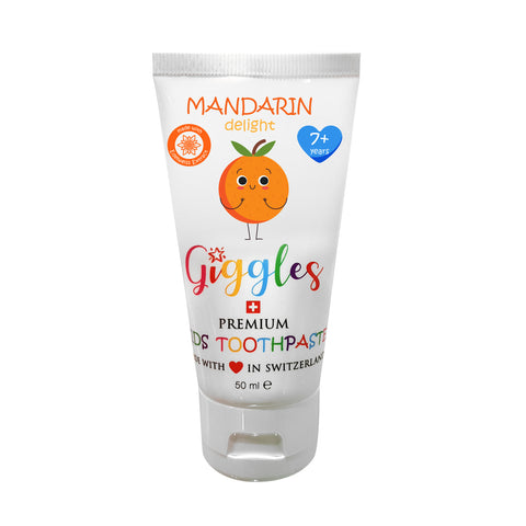 Giggles Premium Kids Toothpaste Mandarin Delight 7+ Years (50ml)