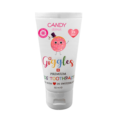 Giggles Premium Kids Toothpaste Candy Donut 7+ Years (50ml)