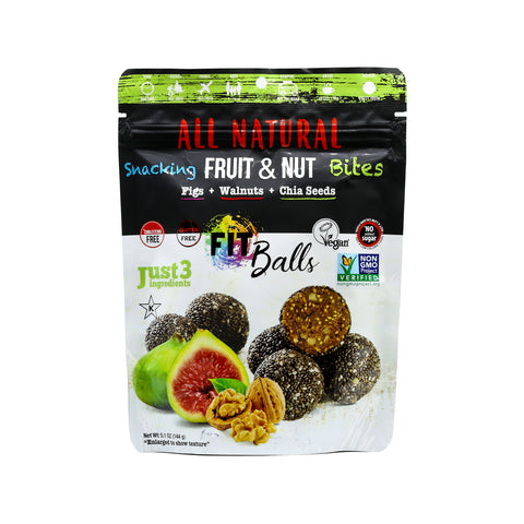 The Squirrels Basket FITBALLS Figs Walnuts Chia Seed (144g) - Organic Pavilion
