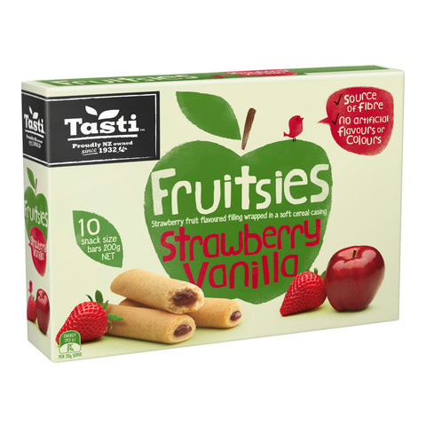 Tasti Fruitsies Strawberry (20gx10pcs) - Organic Pavilion