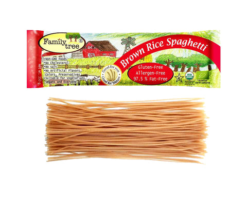 Family Tree 100 % Organic Brown Rice Spaghetti (250gm) - Organic Pavilion