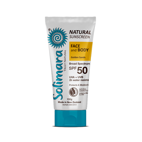 Solimara Truly Natural SPF50 Golden Sands (150g) - Organic Pavilion